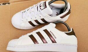 Tantos ir al trabajo Dirigir  Preciosa Adidas superstar blanco y Bronce Cobre Entrenadores De Oro Talla  3.5 Reino Unido | eBay