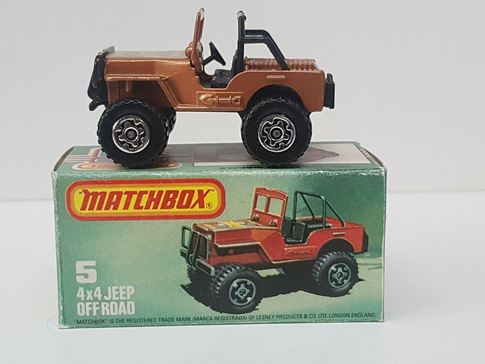 MATCHBOX LESNEY SUPERFAST No.5 4x4 JEEP GoldEN EAGLE RARE NM IN L BOX 1982
