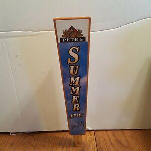 Pete's summer brew beer tap handle -