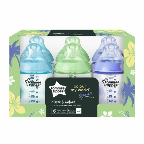 Tommee Tippee Baby Feeding Bottles Colour My World 260ml Boys Girls