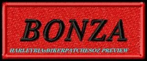 CUSTOM-MADE-TO-ORDER-1-or-2-WORD-BIKER-PATCH-with-COLOURED-BACKGROUND