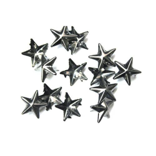 10mm X 50pcs Star Punk Nail Head Studs Rivets Hand Press Button for Arts /& Craft