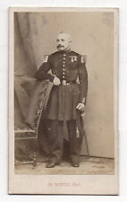 CDV PHOTO MILITAIRE Ch. Winter Strasbourg Colonel Lieutenant Médaille Épée 1870