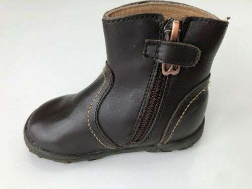 Billowy 3240C01 Brown Leather Boot With Flower Detail