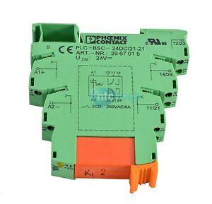 phoenix contact plc bsc 24dc 21 21 relay terminal block moduleimage is loading phoenix contact plc bsc 24dc 21 21 relay