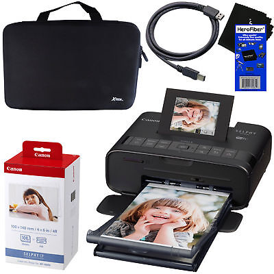 Ink /& Paper USB Cable Hard Case Canon Selphy CP1300 Wireless Photo Printer