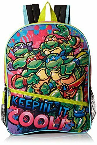 "Teenage Mutant Ninja Turtles Little Girls Keepin It Cool 16/"" Backpack Green//Pink"