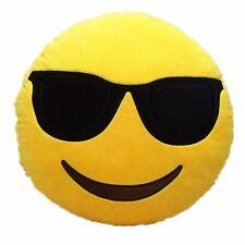 """USA SELLER Emoji Cool Sunglasses Stuffed Key Chain Plush Yellow 4"""" inch Pillow"""