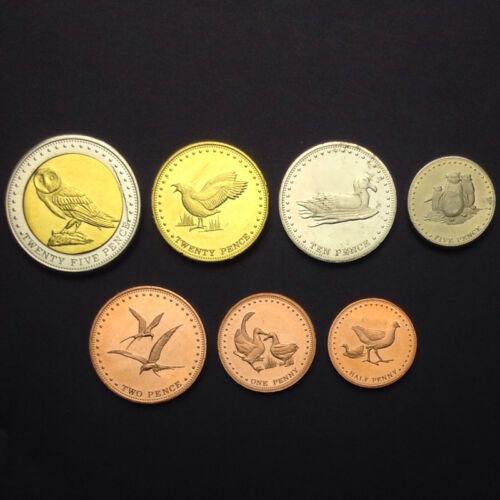 UNC/>Animal,Bird 2009 Gough Island set of 7 coins, 0.5 1 2 5 10 20 25 Pence