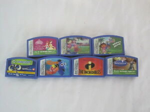 Leapster-7-Game-Set-PreK-1st-Grade-Nemo-Dora-Walle-Disney-SAR38-384