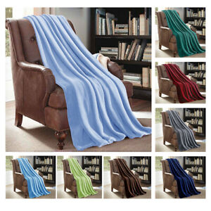 X-LARGE-Soft-Micro-Plush-Flannel-Fleece-Throw-Blanket-New-60-034-x-80-034-All-Colors