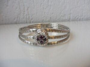 Schones-altes-Armband-800-Silber-mit-geschliffenen-Rubinen