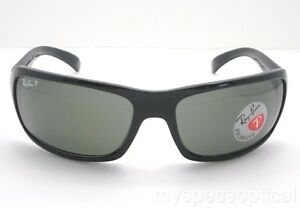 e641e9cad7e Ray Ban RB 4075 601 58 Polished Black Green Polarized New Authentic ...
