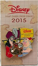 Disney Park 2015 Chase Visa Card Exclusive Captain Hook & Smee Trading Pin LE