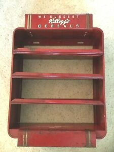 "Ultra RARE Vintage Deco Original ""Kellogg's Cereals"" Metal Countertop Display"