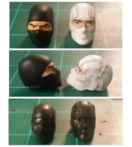 Marvel legends scale Custom PAINTED Headsculpt Storm Shadow Ninja 1:12 g.i.joe