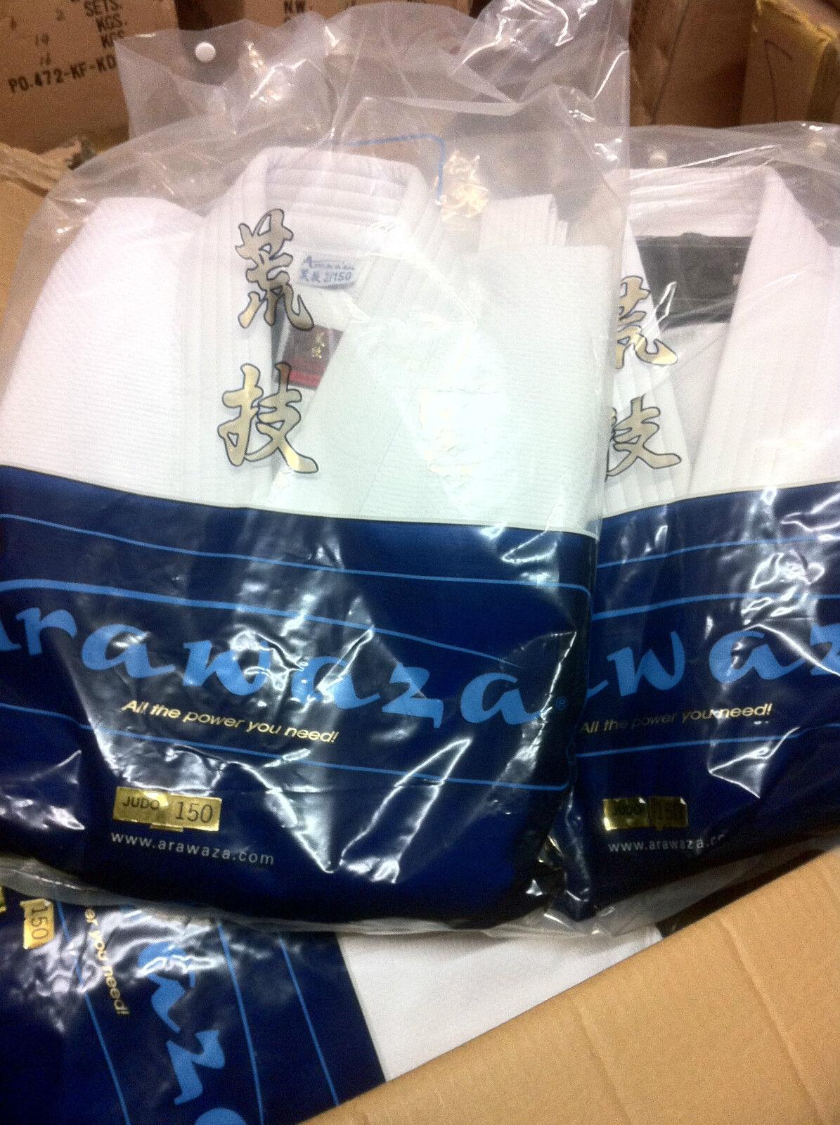 New ARAWAZA CORAL 15oz Top Quality JUDO SUIT GI Uniform Martial Arts - 9 Sizes