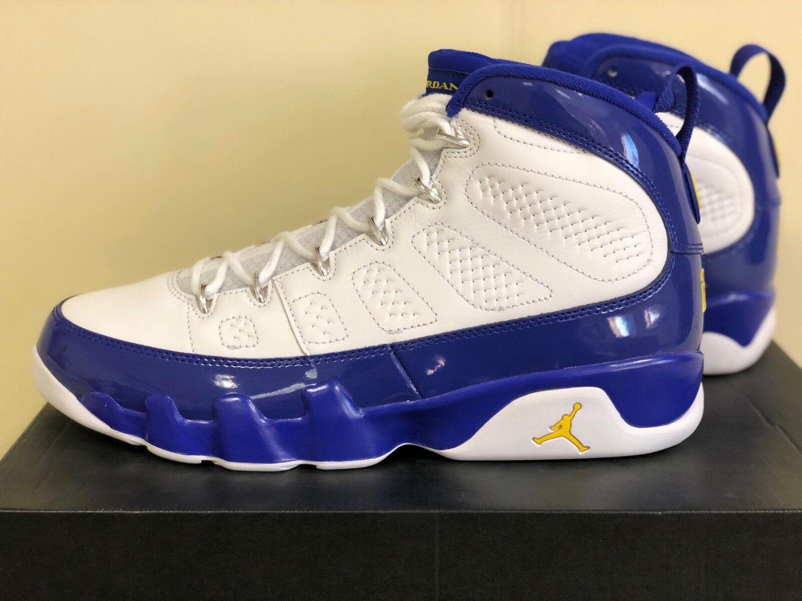 Jordan 9 Retro Kobe Air Bryant PE 302370-121 Tour Amarillo Zapatos de baloncesto US10.5