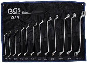 Bgs herramienta Pro juego de llaves anillo dobles 6x7-27x32 mm 12 piezas aro