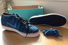 Nike Stefan Janoski Mid Prm Canvas Skateboarding Trainers - Blue/Black - UK 7