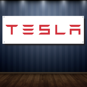 FREE SHIPPING Dealership S X 3 NEW TESLA 1/' X 3/' Garage Banner 13oz Vinyl