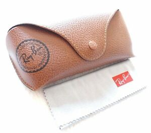 Ray-ban-Brand-new-leather-case-only-Brown-with-cleaning-cloth