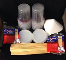 Paint Refinishing kit: Mixing Cups with Lids,Strainers,Paint Sticks,Tack Cloths