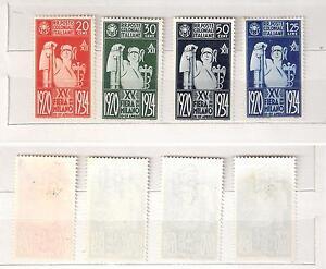 COLONIE-ITALIANE-1934-serie-FIERA-di-MILANO-4-valori-nuovi