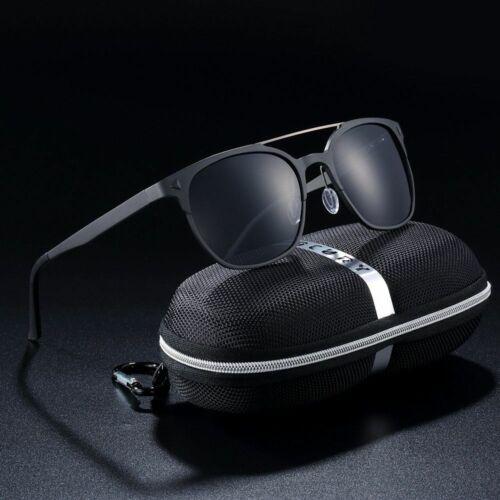 Men Polarized Sunglasses Aluminium Magnesium Retro Steampunk UV400 Round Eyewear