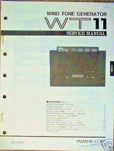 Original Yamaha WT11 Wind Tone Generator Service Manual