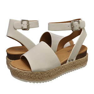 4f2fff7549f7 Women s Shoes Soda TOPIC Platform Wedge Espadrille Sandals OFF WHITE ...