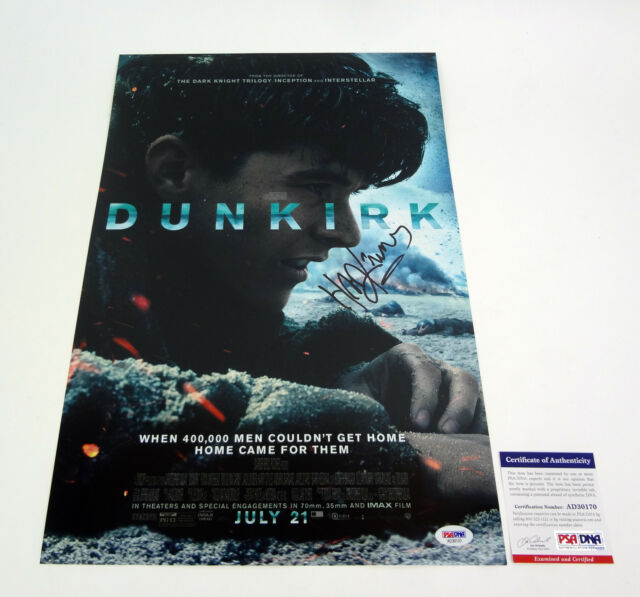 Hans Zimmer Composer Signed Autograph Dunkirk Movie Poster PSA/DNA COA