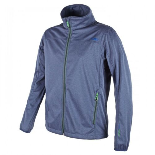 Ui Campagnolo señores senderismo ocio Softshell chaqueta ligeramente azul jaspeadas verde F