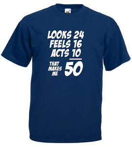 Image Is Loading That Makes Me 50 T Shirt Mens 50th