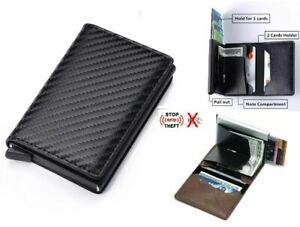 RFID-Blocking-Genuine-Leather-Credit-Card-Holder-Money-Cash-Clip-Wallet-Purse