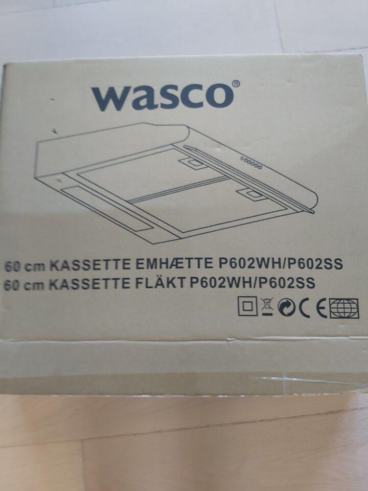 Emhætte, Wasco P602wh/p602ss, b: 60 d: 60 h: 12