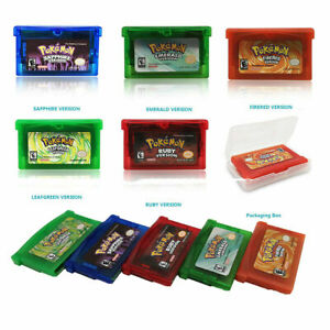 5x-Pokemon-Game-Card-Fire-Leafgreen-Emerald-Ruby-Sapphire-Version-For-GBA-Game
