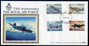 Bermuda-75th-Anniversary-of-R-A-F-set-4-on-Benham-silk-cover-2018-10-04-02