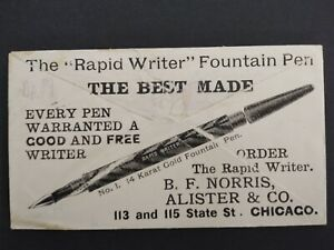 Illinois-Chicago-1897-Norris-Fountain-Pen-Allover-Illustrated-Advertising-Cover