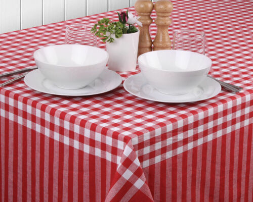 Gingham Red Tablecloths by LadelleSoft Luxurious FeelMachine washable
