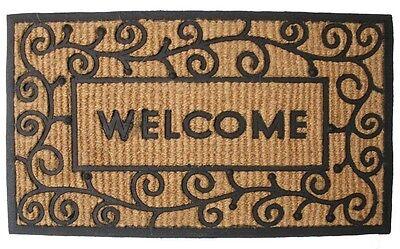 "J & M Home Fashions 7722 Light Swirls Welcome Doormat, 18"" x 30"""