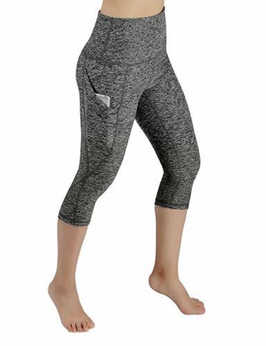 Women/'s Finess Yoga Leggings High Waisted Workout Sports Capri Pants Trousers HL