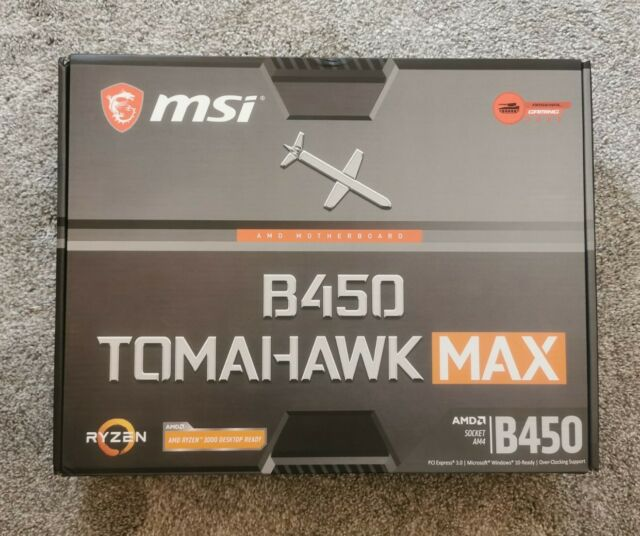 MSI B450 TOMAHAWK MAX AMD AM4 Motherboard 64GB *Brand New Unopened*