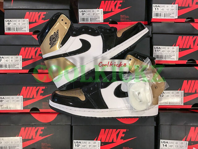 02ca1a22b31f89 Nike Air Jordan 1 Retro High OG NRG Gold Toe Mens Size 12 861428-007 ...