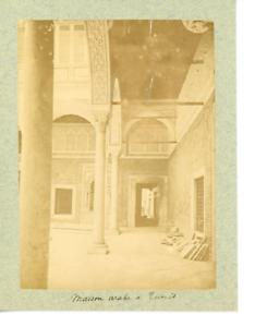 Tunisie-Tunis-Maison-Arabe-Vintage-Print-Tirage-albumine-10x14-Circa-1