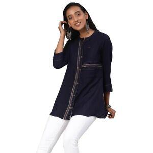 Tunic-Indian-Women-Short-Embroidery-Rayon-Kurti-Kurta-Top-Shirt-Dress