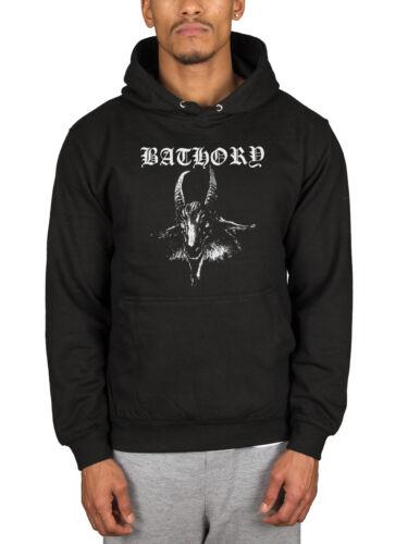 Oficial Banda Black Hoodie Hooded Goat Pullover Jumper Hammerheart Bathory Merch Blood 16rUYwq1x