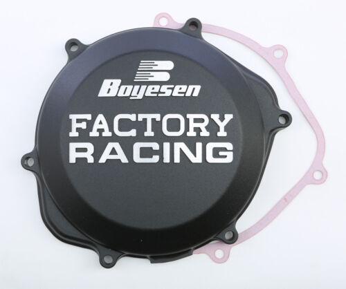 Factory Racing Clutch Cover Black Boyesen CC-06B 02-09 Honda CRF450R TRX450R//ER