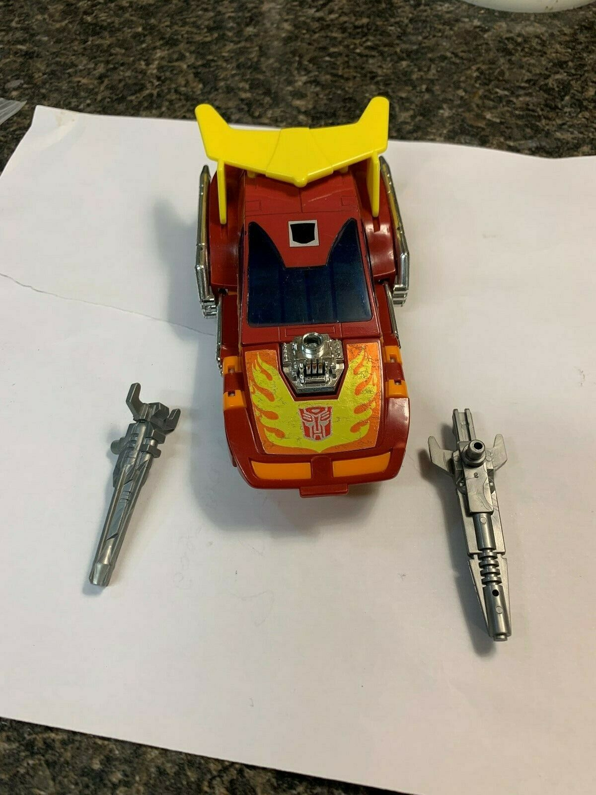 Transformers Original G1 varm Rod 1986 Fullständiga metallmärken