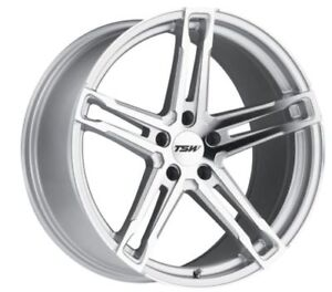 18x8-5-TSW-Mechanica-5x120-15-Silver-Rims-Fits-BMW-525-530-E34